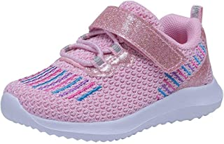 Umbale Girls Flyknit Sneakers Comfort Running Shoes(Toddler/Kids)