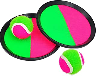 Toss and Catch Ball Set Paddles and Toss Ball Sports Game with 2 Paddles 2 Balls for Sports, Beach and Party Favor,Perfect...