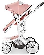HRD Cochecito de bebé Reversible para bebés y niños pequeños, Silla de Paseo Compacto para Cochecito de niño, Bastidor de Coche Tipo X (Estable), Todo terrian