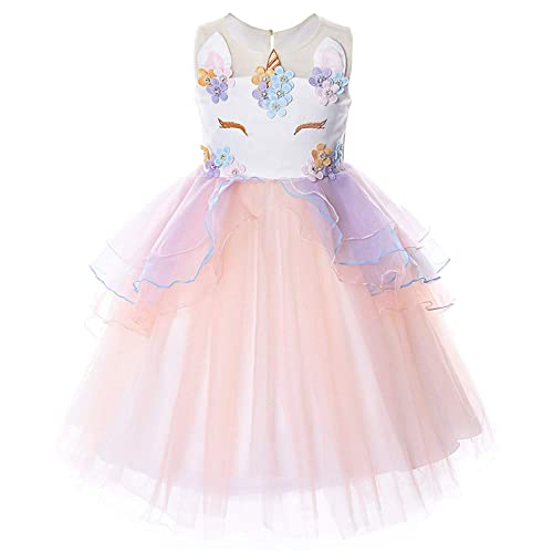 317efe8785a TTYAOVO Flower Girls Unicorn Costume Kids Pageant Princess Party Dress