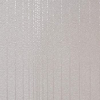 Gleam Silver Modern Wallpaper for Walls - Double Roll - by Romosa Wallcoverings LL7508