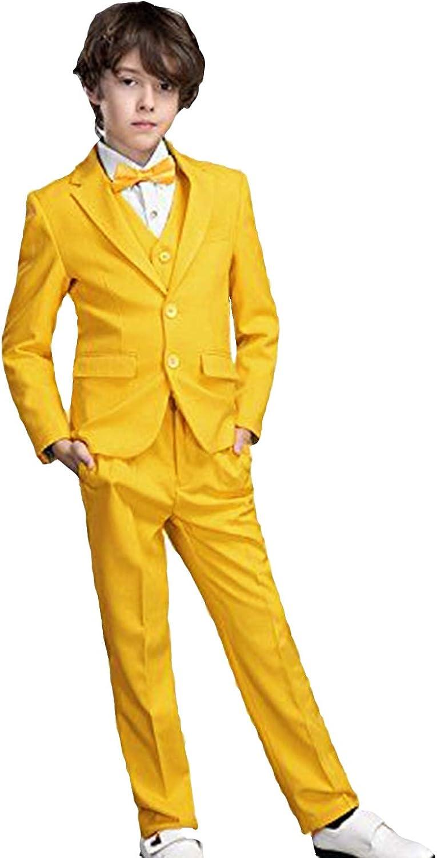 P&G Boys' Suit Three Pieces Suit NotchLapel Classic Fit Formal Dress Tuxedo Set