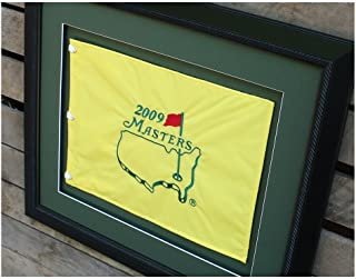 Golf Flag Frames 20x24 Black, Moulding blk-002, Green Mats (float mount; perfect for 13x17 Master's Golf Flags; flag not incl)