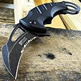 Top Swords MTech Xtreme Tactical Karambit Knife Combat Spring Assisted Open Serrated 833BK