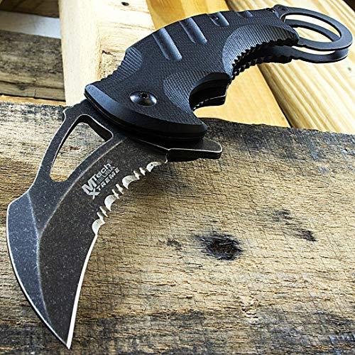 Top Swords MTech Xtreme Tactical Karambit Knife Combat Spring Assisted...