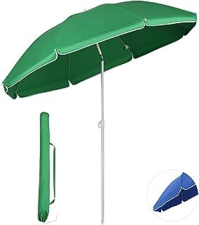 Sekey ビーチパラソル キャンプテンスタッグ 海用傘 UVカット BBQ用 キャンプ用品 1.6~2M アウトドア 日差し避け 3色 blue/green/ホワイトミント