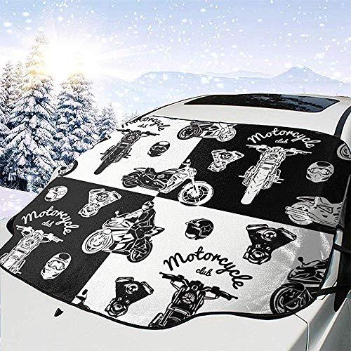 Alice Eva Moto Club Coche Parabrisas Cubierta de Pantalla Solar Cubierta de Agua Luz Solar Cubierta de Nieve