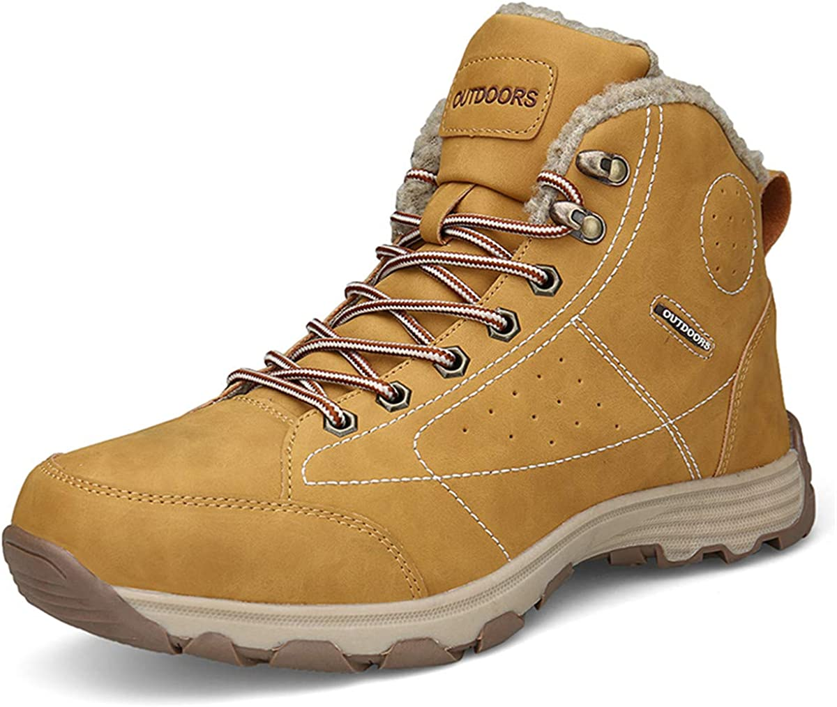 Mens Hiking Trekking 25% OFF Snow Boots Lace Winter Up Virginia Beach Mall Waterproof Shoes