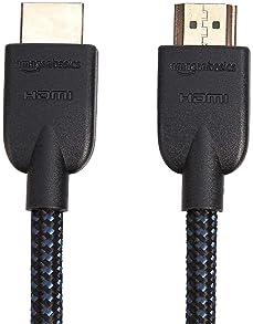 AmazonBasics Nylon-Braided 4K, 18Gbps HDMI to HDMI Cable, 3 Foot
