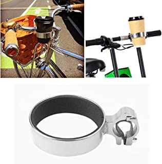 Guoshang Bicycle Coffee Cup Holder Universal Cup Holder Bike Drinks Water Cup Handlebar Bracket Aluminum Water Bottle Cycling for Handlebar Rack