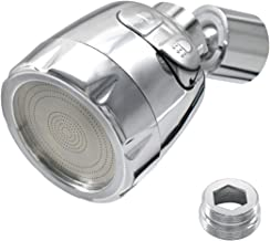 WJUAN waterbesparende zeefstraalregelaar, 360 graden draaibaar, waterkraan, zeef, 49 mm waterbeluchter 2 modi voor keuken ...