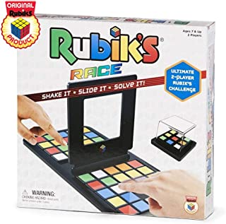 Rubik`s Race Game, Head To Head Fast Paced Square Shifting Board Game Based On The Rubiks Cubeboard, for Family, Adults and Kids Ages 7 and Up