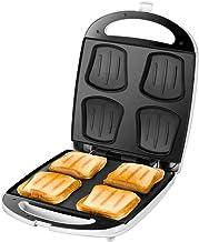 Unold Quadro Sandwich Maker voor 4 toasts tegelijkertijd, antiaanbaklaag, warmte-isolatie, automatische temperatuurregelin...
