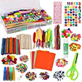 Arts and Crafts D.I.Y Supplies for Kids 1000+ PCS - Assorted Craft Art Supply Combo Kit for Kids & Toddlers All in One D.I.Y. Crafting Collage School Supply Arts Set for Kids