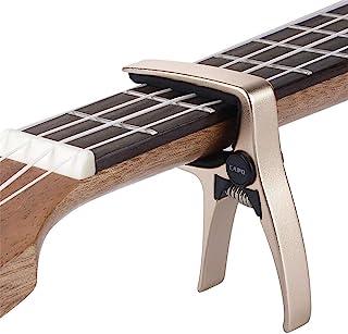 Mini Size Professional 4 String Guitar Capo Ukulele Capo (Gold)