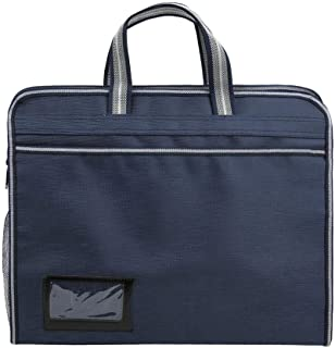 Oxford Cloth Multi-Layer Briefcase, Portable Business Briefcase Large-Capacity Document Bag Multi-Layer File Handbag