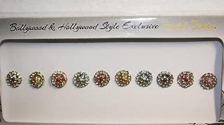 BridalBindis Premium Pack round face Bindi Jewels reusable body jewel stick on Fancy Tattoo - BB1