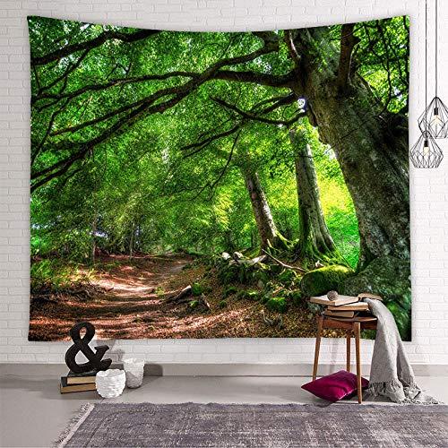 mqlerry Wald Serie Wandteppich Ins Hintergrund Stoff Home Dekoration Wandteppich-4_180cm * 230cm