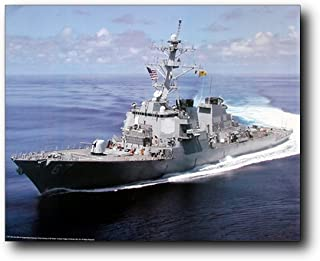 USS Cole Guided Missile Destroyer Carrier Navy Ship Wall Decor Art Print Poster (16x20)