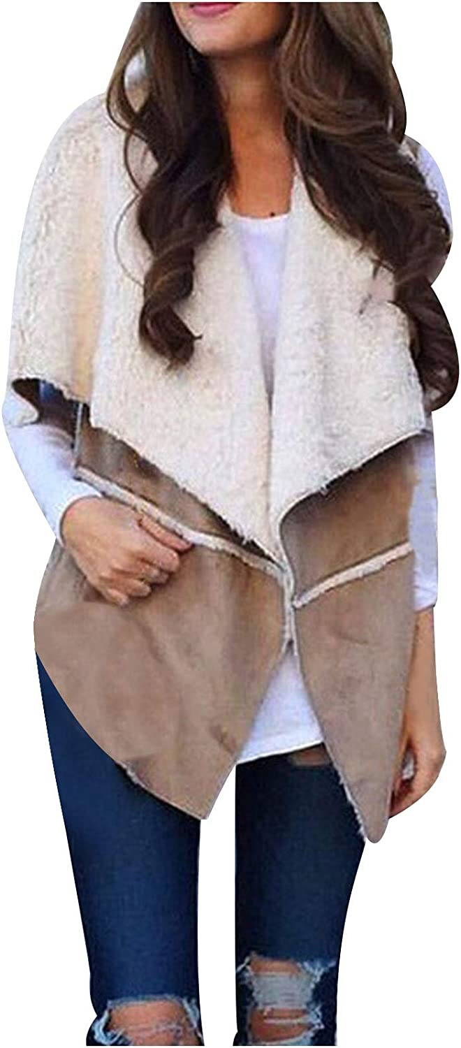 Women Outwear,Fashion Women Solid Sleeveless Stitching Casual Vest Outerwear for Thanksgiving 'Day