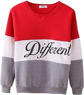 OPAKY Sudaderas Mujer Adolescentes Chica Ni/ña Deportivo Camiseta Manga Larga Tops Ropa Invierno Oto/ño 2019 Sueltas Casual Colorblock Sweater Pullover Blusa Tops Chaqueta