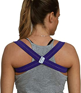 Posture Brace/Shoulder Support - The 2 in 1 POSTURIFIC Brace - 15 Minutes A Day to Improved Posture (Purple XLarge)