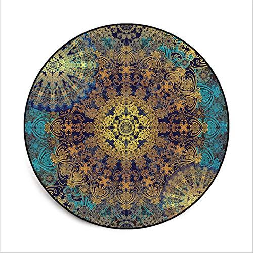 Alfombras y alfombras para la sala de estar de la casa Mandala patrón de flores alfombra redonda alfombras de navidad alfombras para habitaciones de dormitorio dormitorio mullido área alfombras de alf