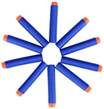 400 Pcs EVA Bullets Sponge Round Head Soft Bullets Refill for N-Strike Compatible Mega Bullet Blaster Kid Toy Gun Blue