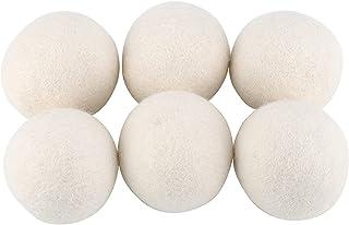 Kulki do suszenia wełny, 6 szt. Naturalny płyn do zmiękczania tkanin wielokrotnego użytku kulki do suszarki Absorpcja wody...