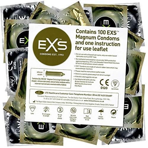 EXS Bulkpack Magnum XXL Kondome 100 Stück, 60mm nominale Breite, mit Feuchtbeschichtung