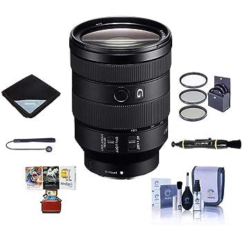 Sony FE 24-105mm f/4 G OSS E-Mount Lens - Bundle w/77mm Filter Kit, Lens Wrap, Cleaning Kit, LensPen, Capleash, Mac Software Package