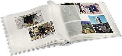 """Hama Album photo """"Birmingham"""" (30 x 30 cm, 100 pages, 400 x10 x 15 cm) Bleu & Album photo vierge """"La Fleur"""" (album photo traditionnel 30 cm x 30 cm, 100 pages, 400 x 10 cm x 15 cm) Noir"""