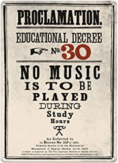 Harry Potter Proclamation No. 30 No Music A3 Large Steel Sign (hb)