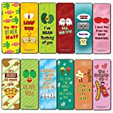 Funny Puns for Couples Bookmarks (12-Pack) - Unique Teacher Stocking Stuffers Gifts for Boys, Girls, Teens, Book Reading Clippers