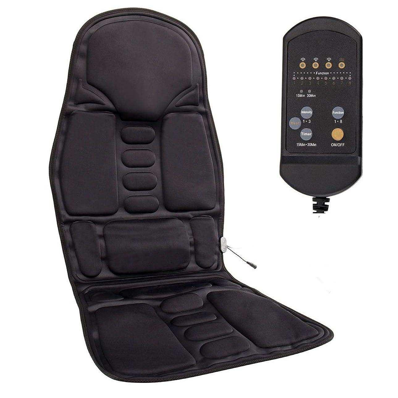 everso シートヒーター シートマッサージャー 搭載 車載用 カーシートカバー品質PUレザー製車載用ツインバードマッサージシート ヒーターマッサージ 旅行 ホーム 車シート ギフト 椅子や座椅子用 持ち運び便利 取り付け簡単 ブラック
