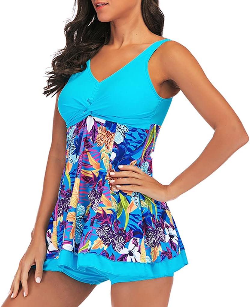 EODNSOFN Two Piece Swimsuit Swim Skirt Swimwear Print Plus Minneapolis Mall Size trust