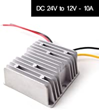 DC 24v to DC 12v Step Down 10A 120W Truck Car Power Supply Adapter Converter Reducer Regulator for Auto Truck Vehicle Boat Solar System etc.(DC15-40V Inputs)