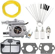Dxent Carburetor with Air Filter for Husqvarna 36 41 136 137 137E 141 142 141LE 142E Chainsaw Fuel Line Filter Spark Plug