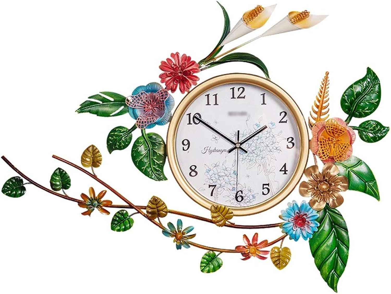 YONGMEI Wall Clock - Nordic Decorative Living Room Wall Clock Garden Creative Mute Clock American Style Clock Ancient Quartz Clock Wall Clock Wall Clock (color   White, Size   65  47cm)