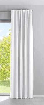 BxH 140x145cm Tissu Gardinenbox UNI Rideau /à /œillets Transparent argent/é