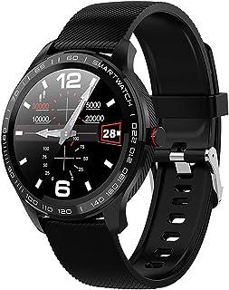 JHHXW Smart Watch, 1.3 Inch Screen, Fitness Tracker, Sports Pedometer Bracelet, IP68 Waterproof, Message Push, Smart Remin...