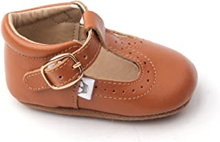 Baby Girls Mary Jane T-bar T-Strap Oxford Soft Sole Crib Shoes Leather