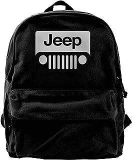 Mochila de lona con personaje Jeep Mochila de gimnasio, senderismo, portátil, bolsa de hombro para hombres y mujeres