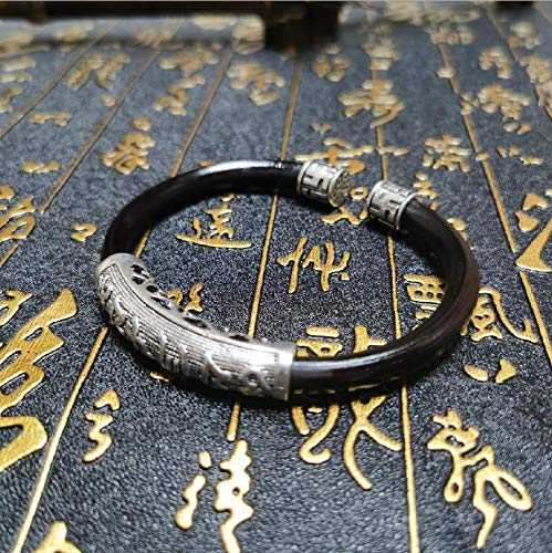 Drkao Traditional Chinese Therapy Bracelet Pain Relief, Strengthen Immune,Arthritic Bracelet, Arthritis Anxiety Relief, Suberect Spatholobus Stem Bracelet Therapy Bracelets with Tibet Silver