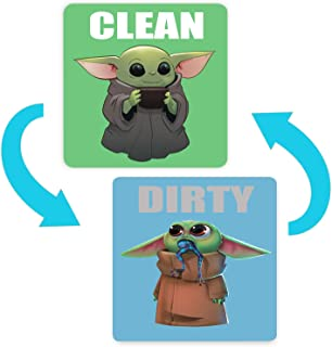 Baby Yoda Dishwasher Magnet Clean Dirty Double Sided Sign The Child Sticker Flip with Magnetic Plate Universal KitchenDis...