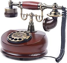 $74 » Vintage Phone - Brown Antique Retro Mobile Phone, Desk Wood Brown Telephone Handsfree Decorative Telephones for Home, Offi...
