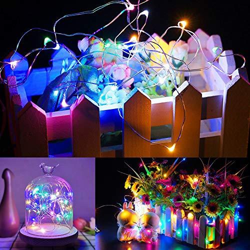 Zorara Catena Luminosa Musica Con Telecomando, 20M 200 LED Stringa Filo Luci Esterno Batteria Colorato 8 Modalit per Natale, Matrimonio, Lucine Decorative[Classe di efficienza energetica A+++]