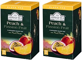 Ahmad Tea of London Peach & Passion Fruit Tea Bags 20's Box (Pack of 2)