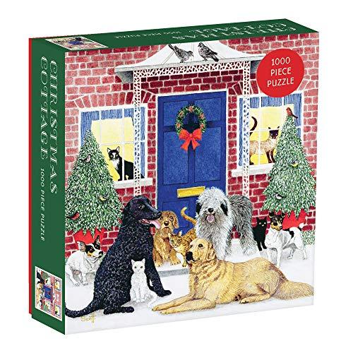 Christmas Cottage Square Boxed Puzzle: 1000 Piece