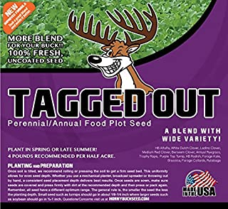 Horny Buck Food Plot Seed for Deer - Tagged Out Blend | 4 pounds